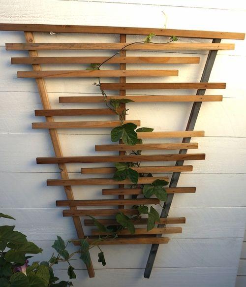 modern wooden trellis - reclaimed wood. www.harwelldesign.com
