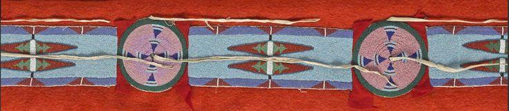 Бисерная полоса для одеяла, Не Персе. Деталь. Bonhams, июнь 2016.