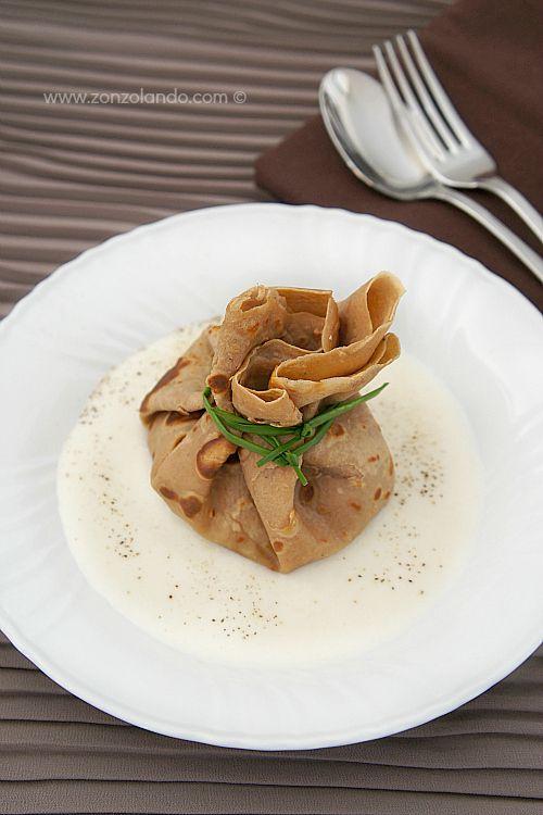Zonzolando: Crêpes di farina di castagne ai funghi
