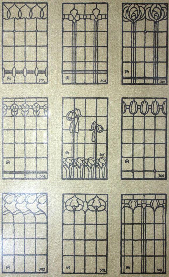 Laurelhurst Craftsman Bungalow: William Morris Art Glass 1910