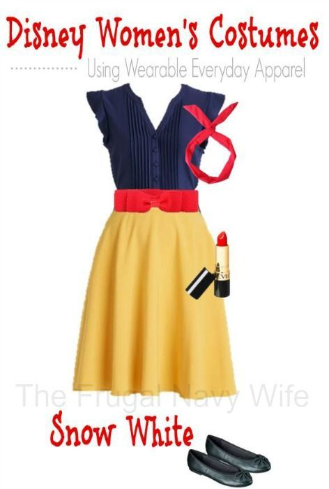 Women's Disney Snow White Costume - Made From Everyday Clothes - The Frugal Navy Wife