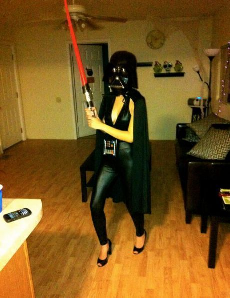 This is my next Halloween costume. Seriously, does it get any better than a sexy Darth Vader???