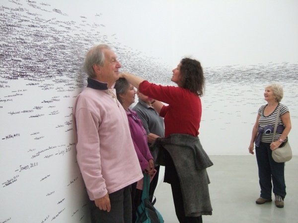 Height measurement installation - organic, uncontrolled art!