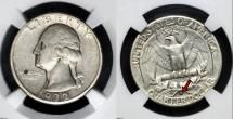 1932-D Washington Silver Quarter Key Date Coin - Photo courtesy of Teletrade Coin Auctions, www.teletrade.com