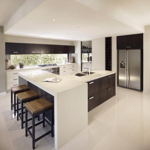 I love this kitchen! simple, Zen
