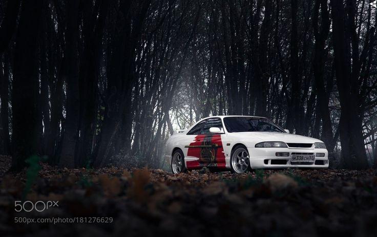 Nissan Skyline R33 V8 by alextin_auto with russiaforestautomotiveautonaturecartransporttransportationeveningskylinehorroratmospherevehiclenissanautomobiler33autophotographynikon d600
