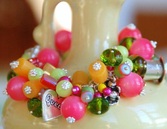 chunky bracelet alice in wonderland inspired by wildwoman jewelry