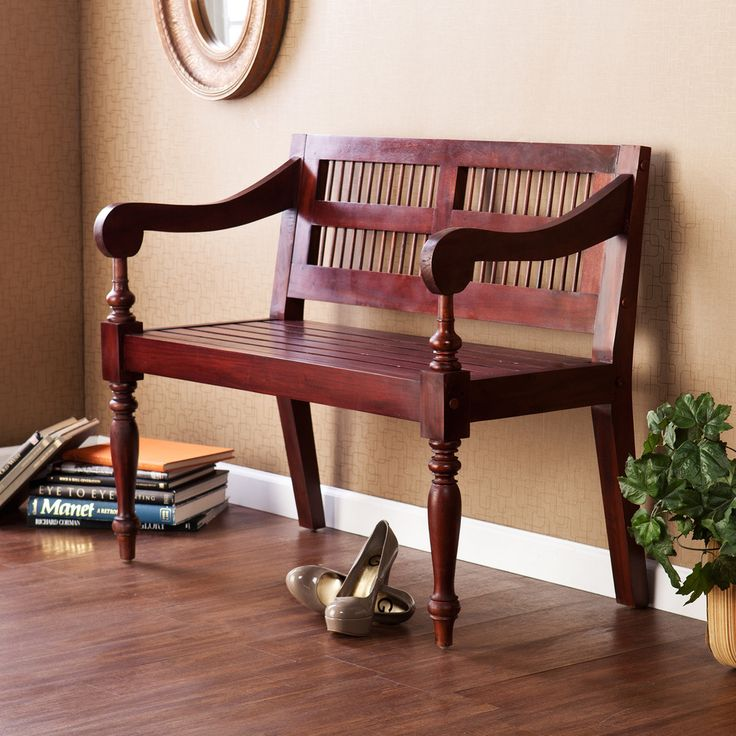 Wooden Hallway Bench Seat Solid Wood Furniture