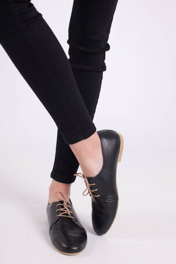 ac55a839d5464 Black Oxford Woman Shoes/Black Leather Shoes/Leather Shoes/Oxford ...