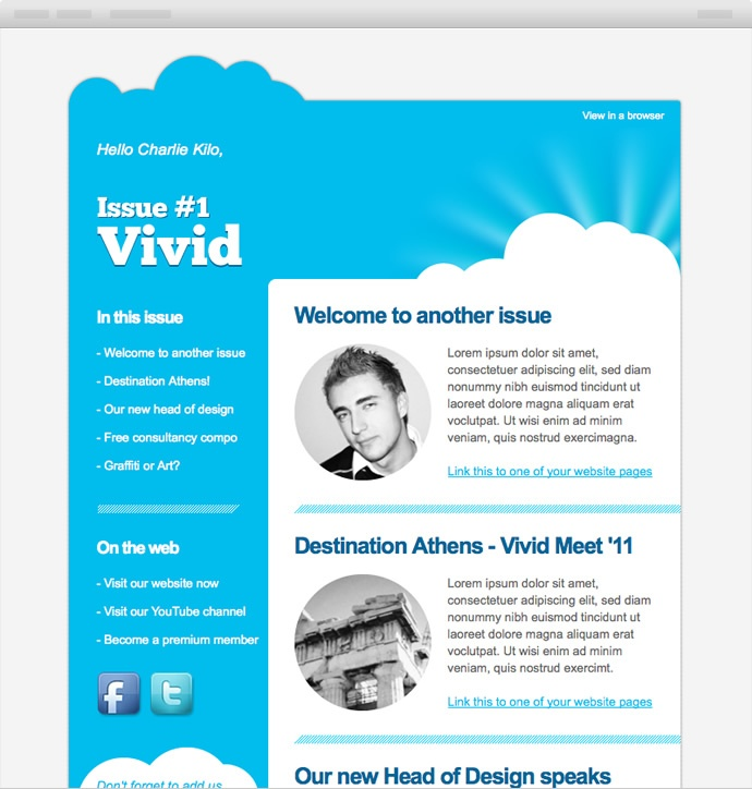 Super Things. 'Vivid' HTML Email template.