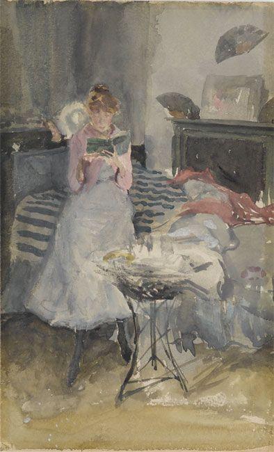 """""""The Novelette"""" James McNeill Whistler (1834–1903)"""