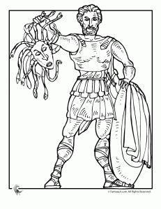Ancient Greek Gods and Greek Heroes Coloring Pages | Fantasy Jr.