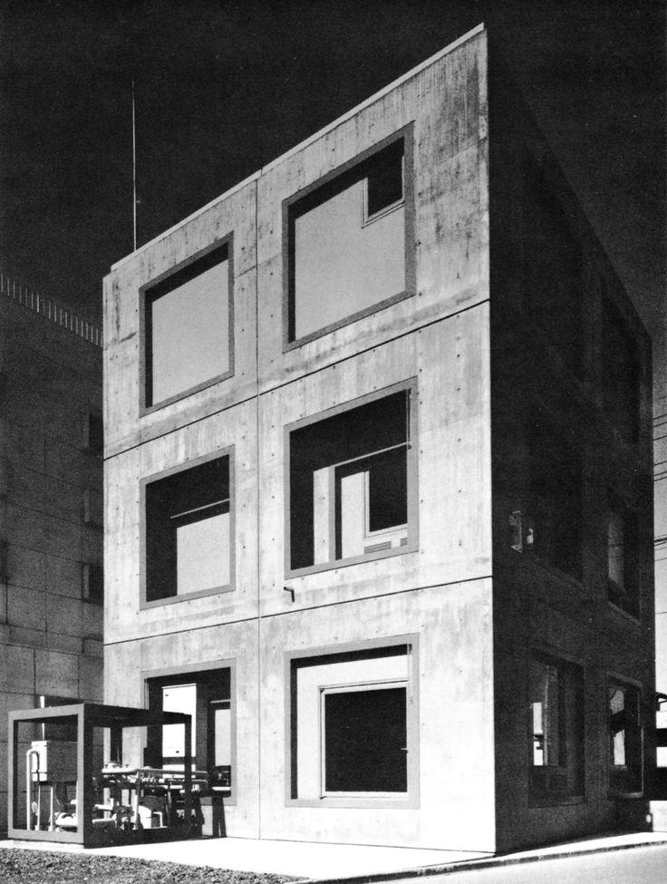 LEUKE VERHOUDINGEN Marutake Building, Saitama Prefecture, Japan, 1976  Hiromi Fujii