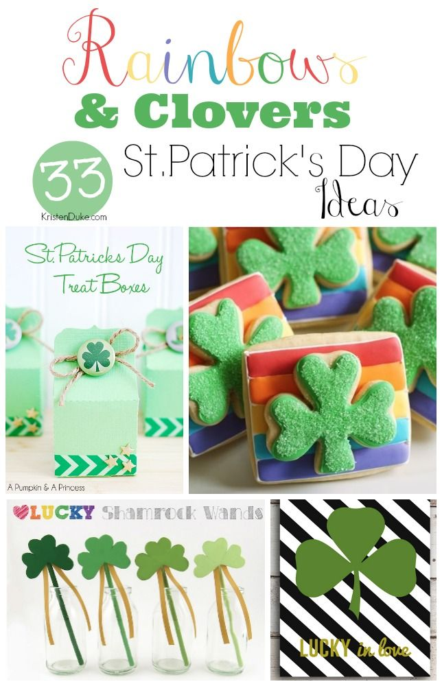 Rainbows and Clovers~St. Patrick's Day Ideas