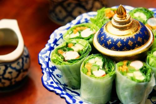 healthy Garden Roll, Thai food