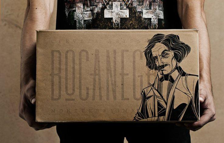 Дизайнерское агентство изМексики, FUTURA, разработало дизайн упаковки дляBocanegra, ремесленного пива, приготовленное вМонтеррее.  Дизайн упаковки включает весь комплекс: бутылка, упаковка изгофрокартона для6 бутылок итранспортная четырехклапанная картонная коробка. Накоробках нанесена печать водин цвет. Набутылках оформление этикеток ипробок черно‑белое.  http://am.antech.ru/TaQd