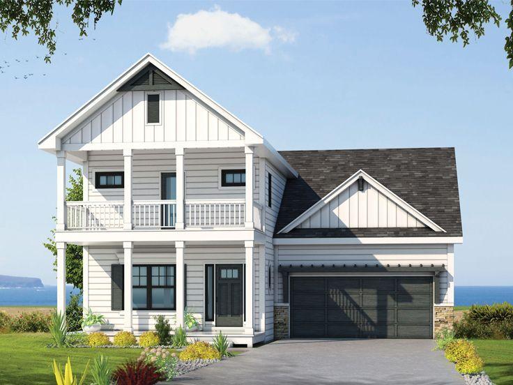 031h 0357 Multi Generational Narrow Lot House Plan 2388 Sf Porch House Plans Narrow Lot House Plans Southern House Plans