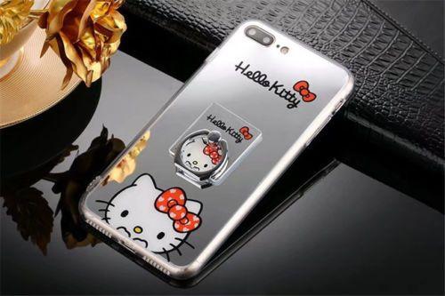 3D Espejo Caricatura Adorable Hello Kitty Estuche Para Iphone 7 7 Plus 6 6S Plus 5 5S