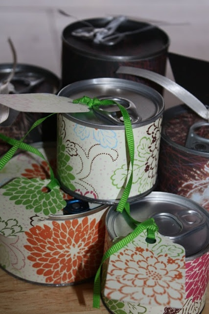 Tin can gifts craft ideas pinterest gift sunday for Can you recycle cookie tins
