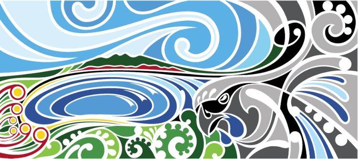 Beautiful art piece (New Zealand artist) the swirl/koru effect again ...
