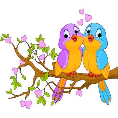 Pájaros del amor del pájaro de dibujos animados Imágenes - Birds Cartoon Clip Art