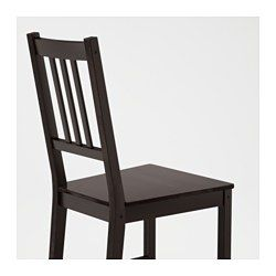 IKEA - STEFAN, Silla, La madera maciza es un material natural muy resistente.