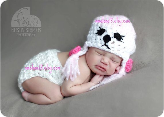 crochet  POODLE Hat diapercover  and boots  0 to 18 by NattyHatty, $46.99