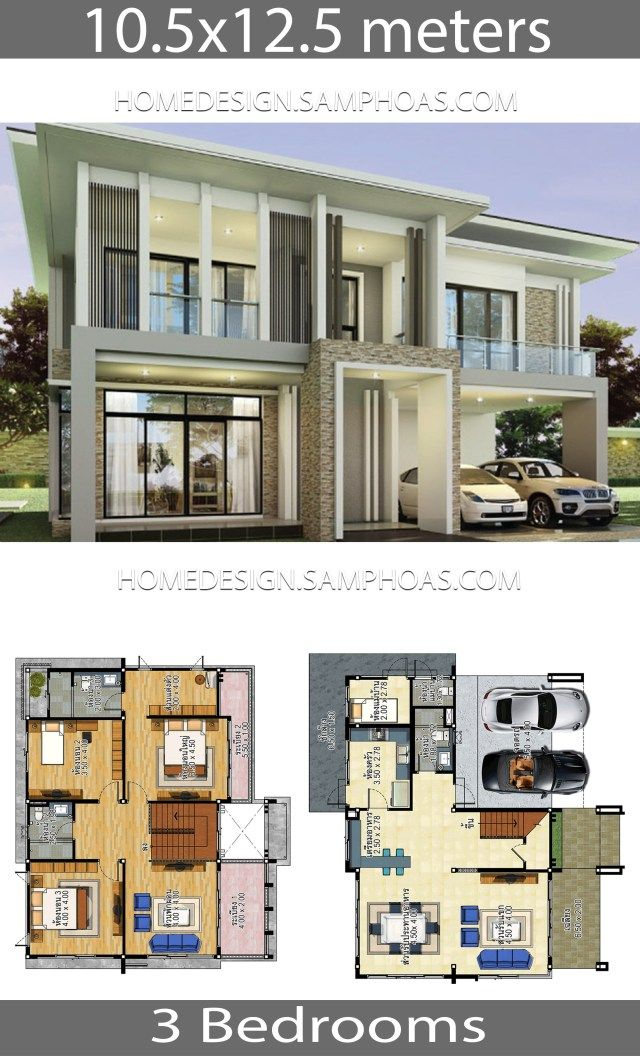 House Plans Idea 10 5x12 5 With 3 Bedrooms Home Ideassearch House Plans Duplex House Design Modern House Design