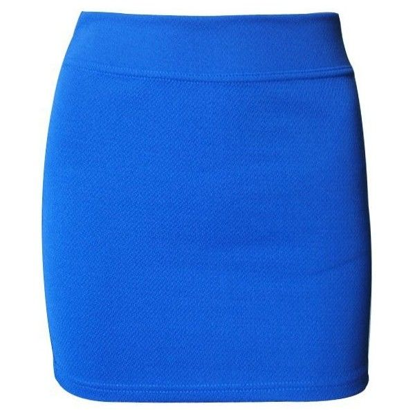 Ninimour- Lady's Celeb Retro Pencil Mini Skirt Bodycon Stretch Short ($8.99) ❤ liked on Polyvore featuring skirts, mini skirts, bottoms, stretch mini skirt, blue mini skirt, blue pencil skirt, bodycon pencil skirt and stretch pencil skirt