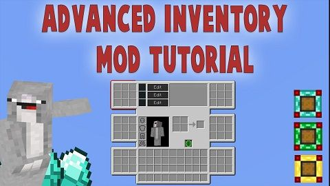 Download Advanced Inventory Mod for Minecraft . Advanced Inventory allows you to upgrade your inventory with up to six areas that consist of 9 slots each. In addition to that, you can add functionality to them by adding special items like filters or crafters to them.