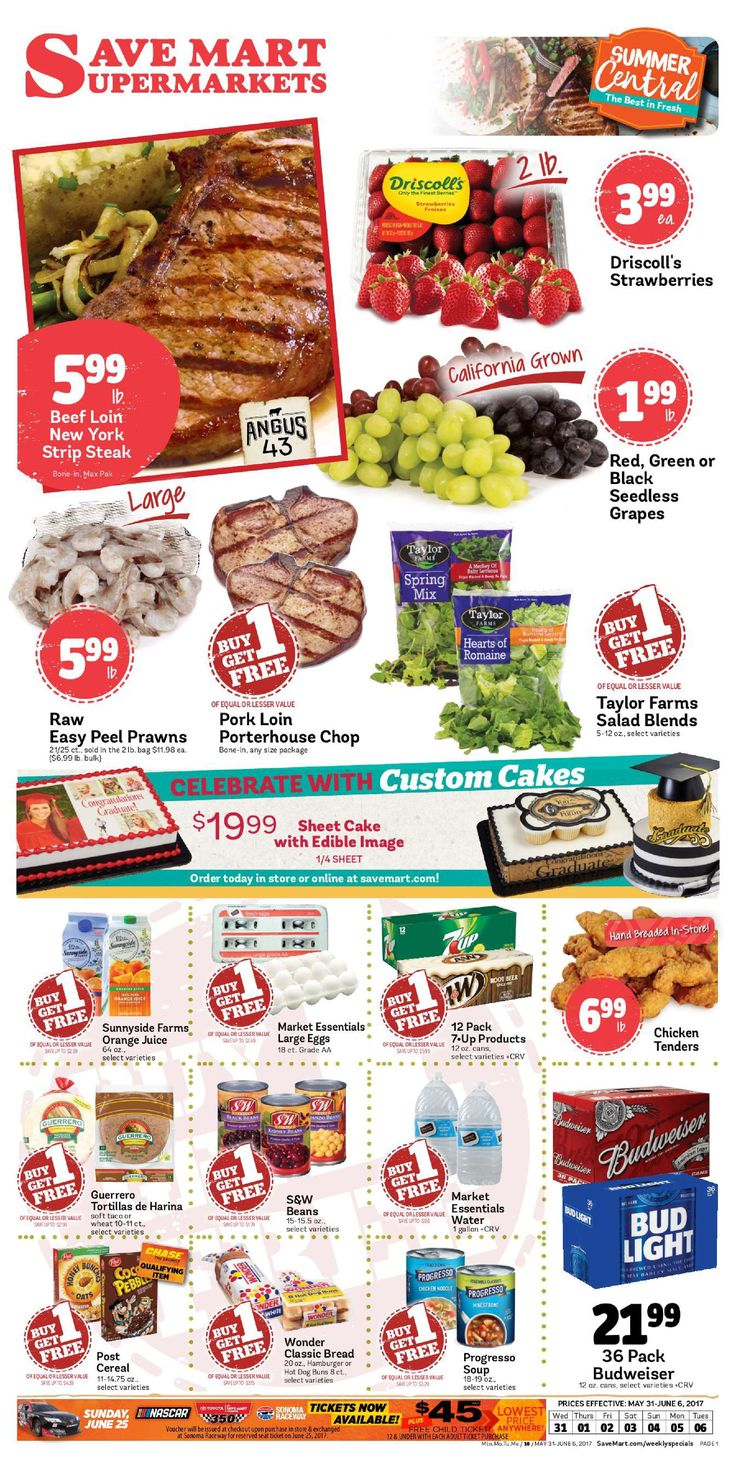 Save Mart Weekly ad May 31 - June 6, 2017 - http://www.olcatalog.com/save-mart/save-mart-weekly-ad.html