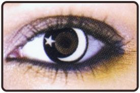 White Star and Moon Contact Lenses