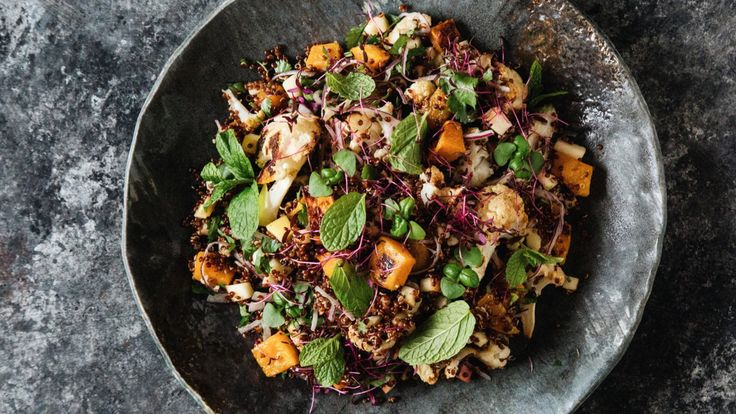 Roasted Cauliflower, Squash and Quinoa Salad