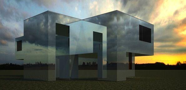 зеркальный дом Роттердам