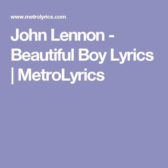 John Lennon - Beautiful Boy Lyrics | MetroLyrics