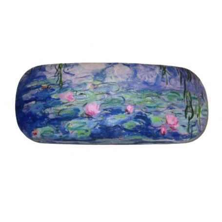 Spectacles case water lilies-willows