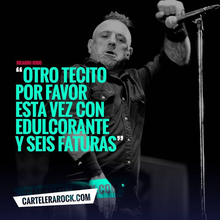 "49 Likes, 1 Comments - Cartelera Rock (@cartelerarockok) on Instagram: ""quien dijo... #frase #music #rock #rockstar #iorio #quote #almafuerte #instarock"""