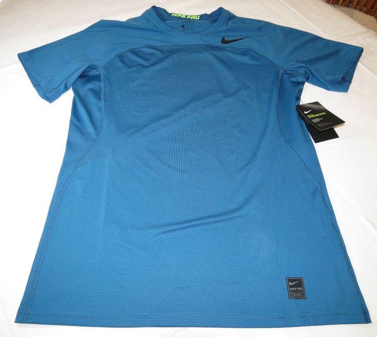 Nike Pro HyperCool Fitted Mens short sleeve shirt 828178 457 XXL Swoosh NWT #Nike #SportTee