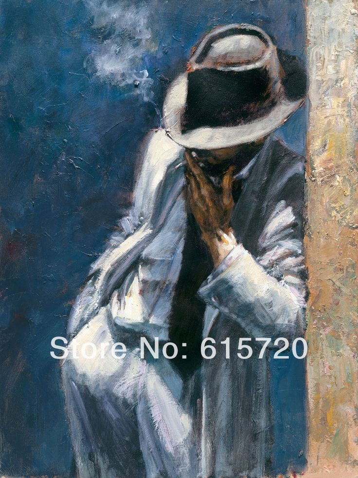 Fabian Perez Original oil painting (Man in White Suit Blue) Giclee Art print repro on canvas wall decor-in Painting & Calligraphy from Home & Garden on Aliexpress.com | Alibaba Group