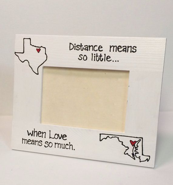 horizontal state to state picture frame miss you gift going away long