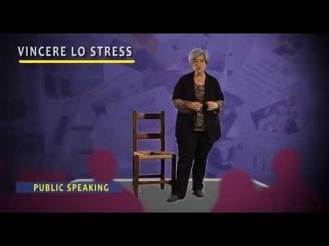 Una delle video lezioni del nostro corso di Public Speaking - Vincere lo stress