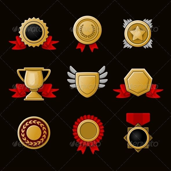 Achievement Icons Set #GraphicRiver Medals and gifts icons set Created: 25July13 GraphicsFilesIncluded: JPGImage #VectorEPS #AIIllustrator Layered: Yes MinimumAdobeCSVersion: CS Tags: achievement #award #background #badge #banner #best #certificate #competition #design #emblem #first #gold #icon #illustration #isolated #medal #medallion #place #prize #ribbon #set #shield #sign #star #success #symbol #trophy #vector #victory #winner