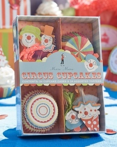 Circus cupcake kit - great site for lots of kids party decorations & accesories