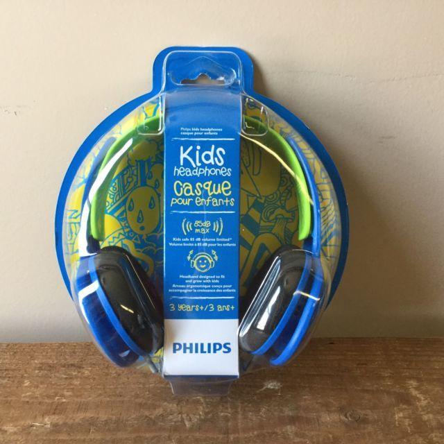 Philips SHK2000BL/27 Kids Children's Headphones Blue and Green New 85dB Max | eBay