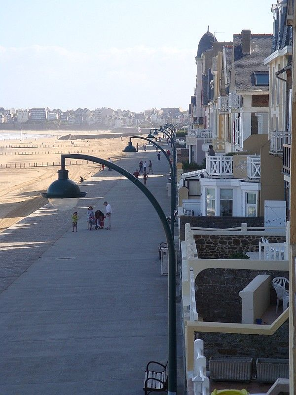 Oceanfront Promenade of Saint-Malo, France