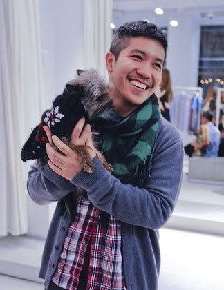 Thakoon and his Yorkie mutt Stevie