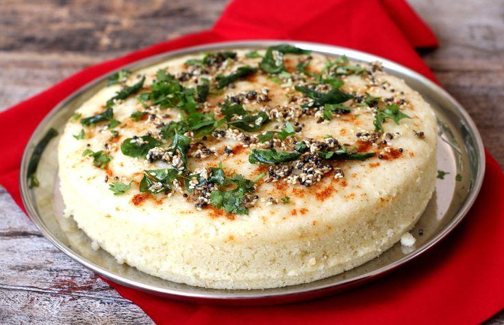 Sooji Dhokla - Steamed semolina based Gujarati snack