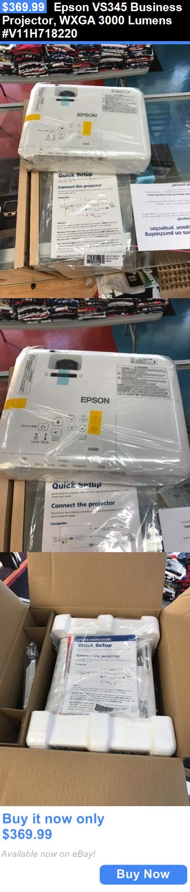 Home Audio: Epson Vs345 Business Projector, Wxga 3000 Lumens #V11h718220 BUY IT NOW ONLY: $369.99