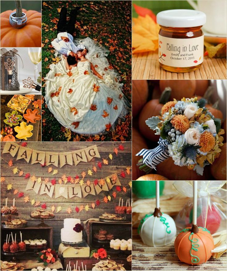 Gorgeous fall #wedding color palette inspiration for using beautiful burnt oranges and soft browns of autumn