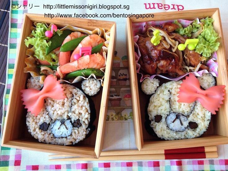Twitter from @shirleyhkapa ルルロロの飾り巻き寿司のお弁当  Tiny Twin Bears Deco Sushi http://littlemissonigiri.blogspot.sg/2013/04/tiny-twin-bears-deco-sushi-bento.html … #obentoart #kazarimakisushi #decosushi #obento
